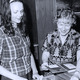 Librarian Ruby Roeder with a library intern in1974.