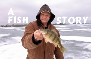 Peter Frey Sr with his Jumbo Perch