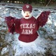 Quick change to Texas Aggie snowman. Photo courtesy of Steve & Karen Payton