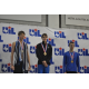 Carson Klein captures gold. Photo courtesy of Sean Murphy, Carroll ISD Communications Intern.