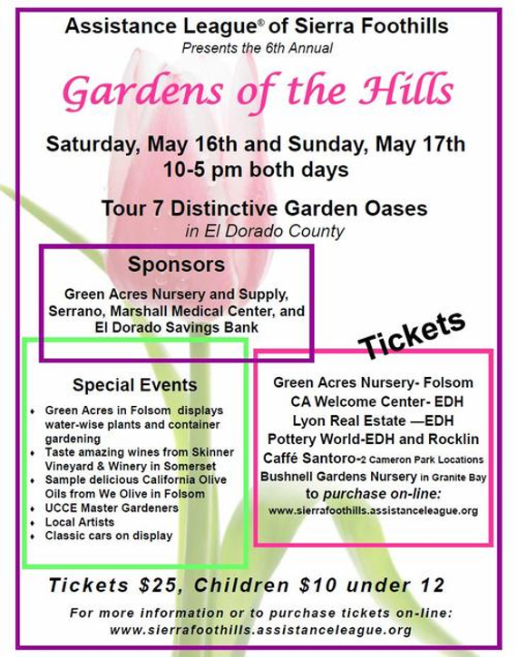 6th Annual Gardens of the Hills Tour - May 16 & 17