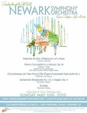 Newark Symphony Orchestra Concert - start May 10 2015 0300PM