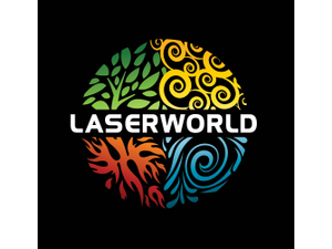 Laser 20world 20logo 20w 20black 20background