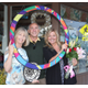 From left, Judy and John Peetz, who are leading the Manhattan Beach Host Town efforts for the 2015 Special Olympics Summer Games, with Maureen McBride, stand inside the Special Olympics' Circle of Inclusion.