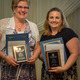 Touchpoints to Tranquility and Breyne Lawn Service were awarded the Splash Award at this year's Oswego Chamber of Commerce Annual Dinner.  Pictured are:  Elizabeth Gindt owner of Touchpoints to Tranquility and Kandra Breyne Witkowski co-owner of Breyne Lawn Service
