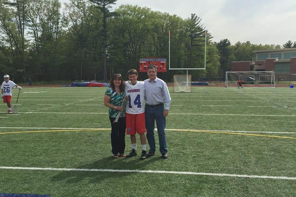 Dan McColgan and his parents.