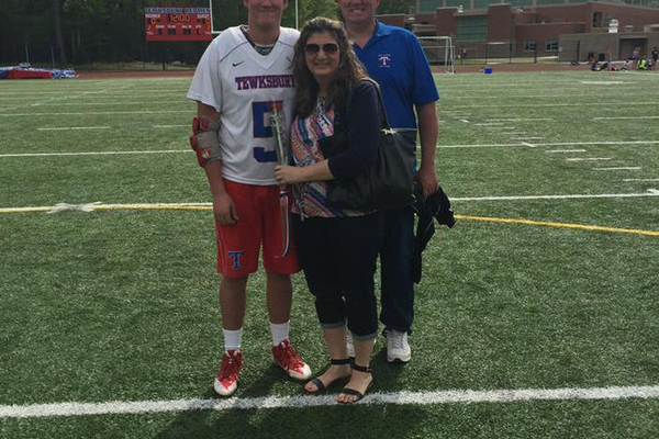 PJ Wild and his parents.