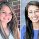 Valedictorian Sabrina Ulsh left and Salutatorian Dipna Patel