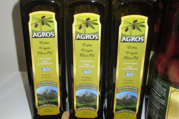 Olive oils from Greece are available.