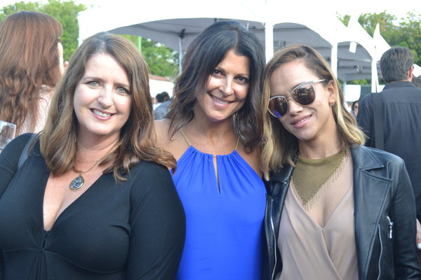 Kris D'Errico of Bella Beach and Bella Beach Kids; Tiffany Mesko of Manhattan Denim; and Lori Greenberg. Photo credit: Jeanne Fratello for DigMB