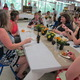 Staff enjoys the teacher luncheon at the North Street School.