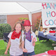 Hannah Conley and Hannah Zollinger cooked chicken in a biscuit and country potatoes during the 25th and final annual Dutch Oven Cook-off this year at Riverview Junior High. Photo courtesy of Julie Slama