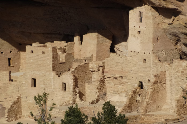 The movement of the sun provides an ever-changing hue being emitted from the rocks and ruins in Mesa Verde.