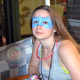 Brooke Geromini with a face paint