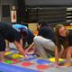 Shown on the inflatable Twister game (L-R): Ariana Fugoso, Ryan Gonthier, Alex Tsiounis, and Liz Bernardini