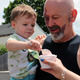 Benefit of owning the Bulletin: getting to watch my husband, Michael, and grandson, Adrian, enjoying ice cream