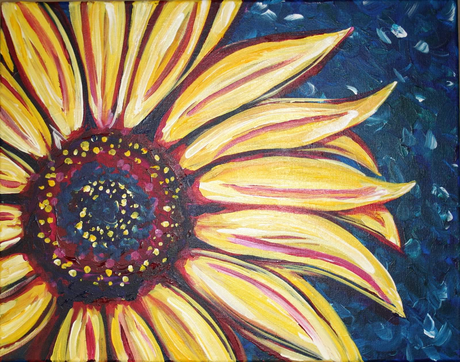 Colorful sunflower1