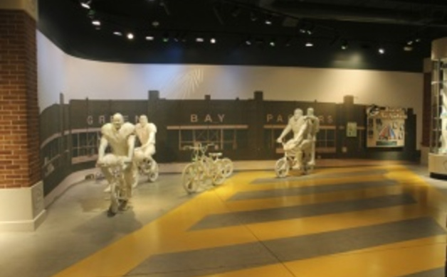 Interactive Exhibit at the Packer's Hall of Fame