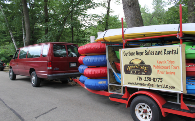 Tubes and Kayaks on Truck