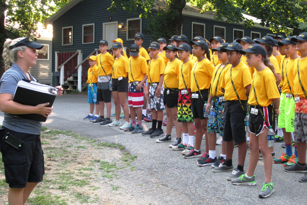 Pennsylvania State Police trooper Samantha Minnucci is the camp director for Camp Cadet.