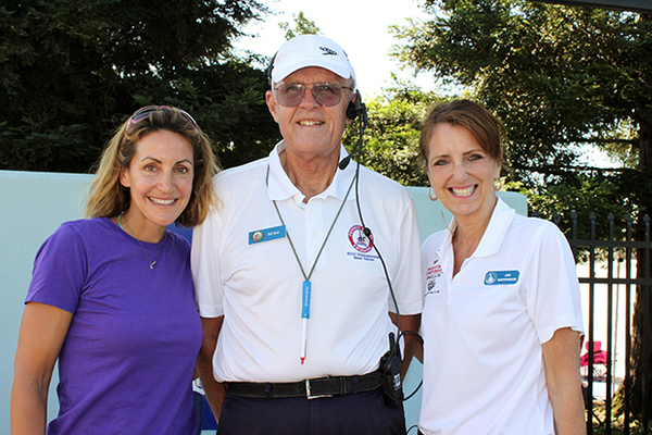 Summer Sanders, Bill Rose and Amy Hoppenrath