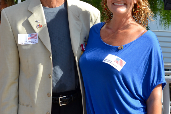 Col. John D. Counselman, Jr. poses with daughter Stacy Myrose, co-president of Robinson PTSA