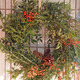 Wreath from December greens at Forgotten Works Garden Gallery