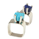 Lapis and Turquoise Geometric Rings - $95 each - Blanca Flor, Annapolis