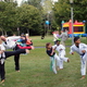 Northeastern Tae Kwon Do Academy students demonstrate sidekicks.