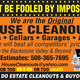 House Cleanouts Does It Alland Does It Well - Oct 01 2015 0600AM