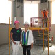 Anne T. Hogan and Carol Boncelet inside the beacon in the center of the building, which will be a showcase spot for Girl Scouts.