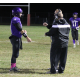 Senior quarterback Alex Tate (14) talks to some of his coaches during Saturday night's win over Whittier under the lights at Shawsheen Tech. COURTESY PHOTO