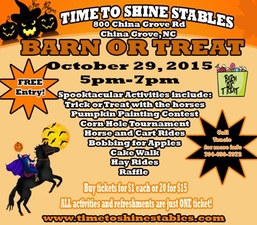 Barn or Treat - start Oct 29 2015 0500PM