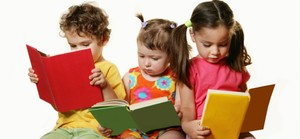 Medium reading toddler