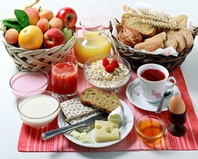 Medium very healthy breakfast