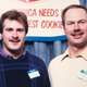 Brett and Jerry Rechek in the late 1980s at a food show