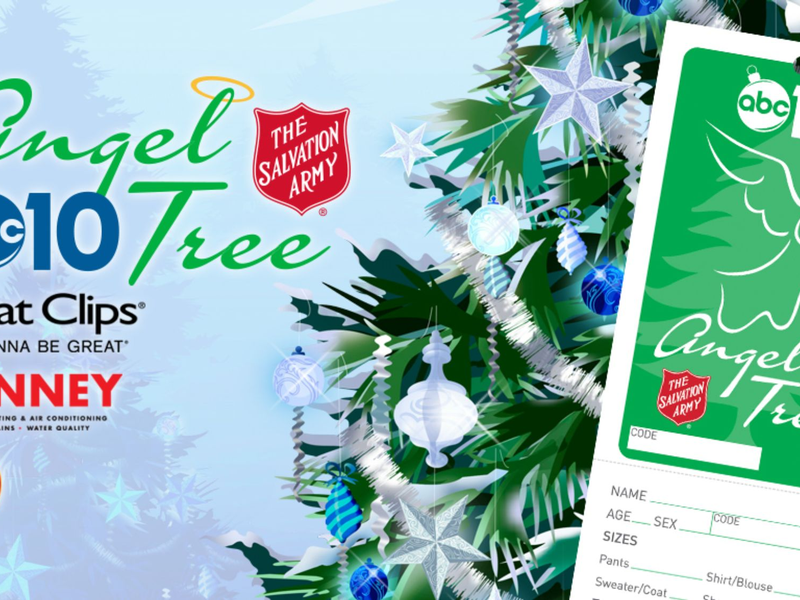 abc10 with the salvation armys angel tree program for sacramento area - Salvation Army Christmas Angel