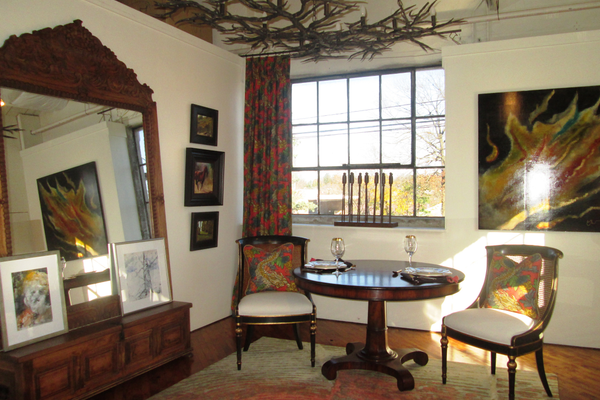 A room designed by Andre Petrillo, with original art by Peter Willard, Carol Lesher, David Diaz, Patricia Walsh, Edosa Oguigo and Ellen Catanzara.