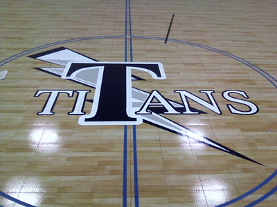 Sport court floor titans