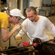 Artisans work at the Pittsburgh Glass Center. Photos courtesy Nathan J. Shaulis/Porter Loves Photography.