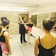 Alisha Cardenas instructs Alexa Angelucci during a class at the Central New Jersey Ballet Theater