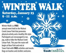 Winter Walk - start Jan 23 2016 0900AM