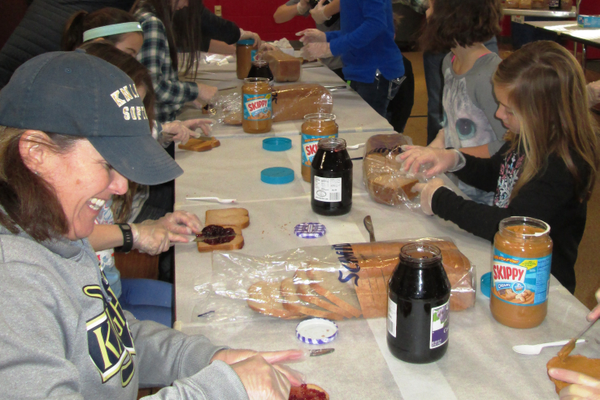 There were 300 peanut butter and jelly sandwiches made at Hillendale Elementary on Jan. 18.