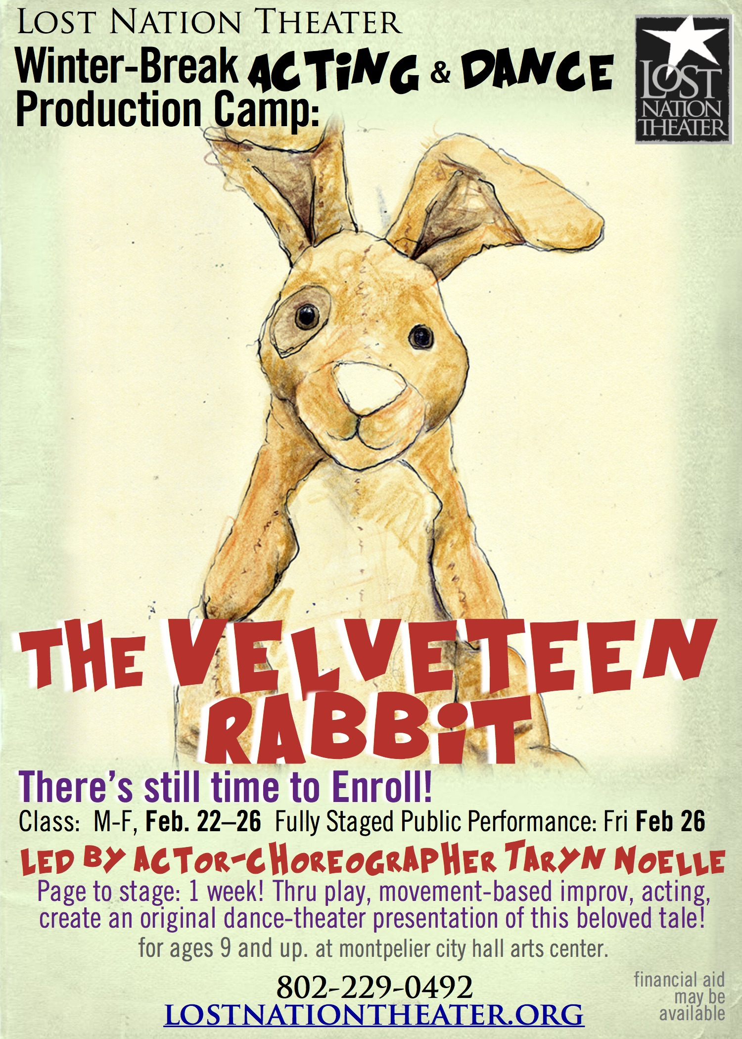 2016 20winter 20youth 20camp  20velveteen 20rabbit