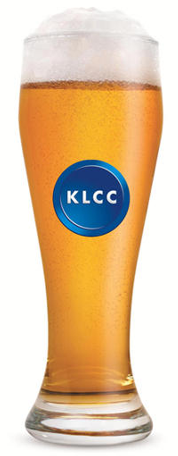 Glass with klcc logo 200w