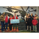 Donating $500 to the VFW6111 – Eagle Scout Project Monument here in Mansfield. Photo courtesy of Andrew Postell.