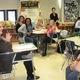 Sen Dinniman talks to students at Kennett Middle School on Jan 28