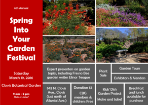 Spring Into Your Garden Festival - start Mar 19 2016 0900AM