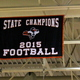 Recognition of the state championship banner at the Osseo Senior High Sno-Daze Pepfest 2016.
