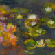 'Les Nympheas,' an oil by Louise Clearfield.